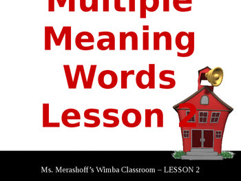 Multiple Meaning Words-Complete Teacher Lesson On PowerPoint Begins With Pretest Ends With Posttest - JAMsCraftCloset