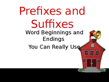 Prefixes and Suffixes-Complete Teacher Lesson on PowerPoint Pretest Activities Posttest JAMsCraftCloset