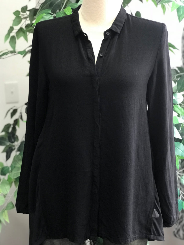 Miilla Long Sleeve Top With Sheer Back