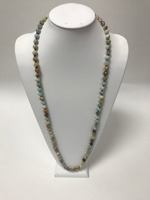 Green Multi-Colored Bead Necklace