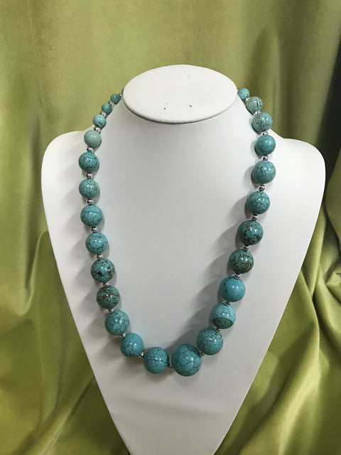 Turquoise Bead Necklace