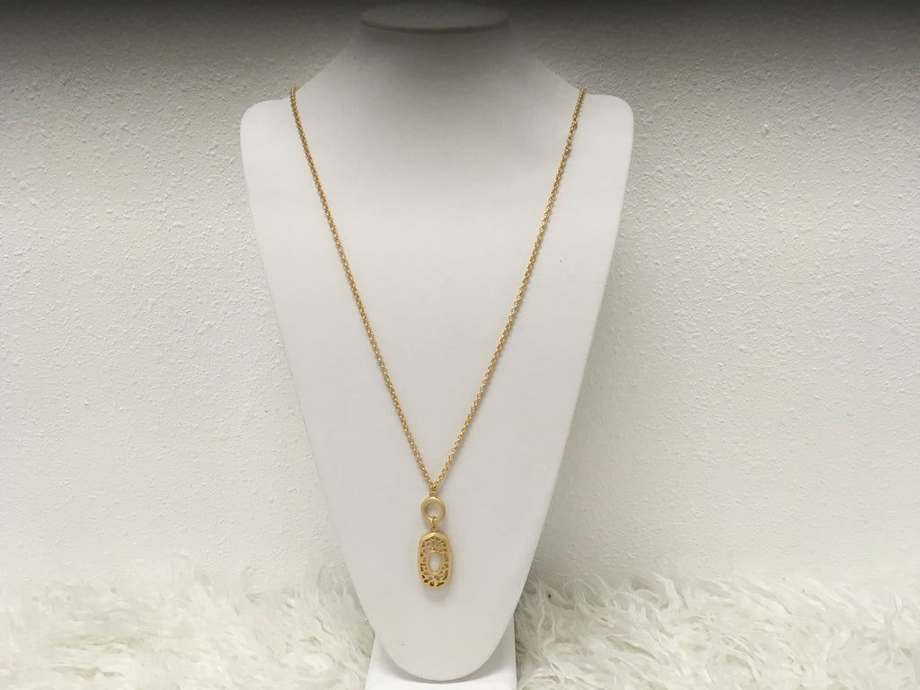 Necklace With Oblong Pendant