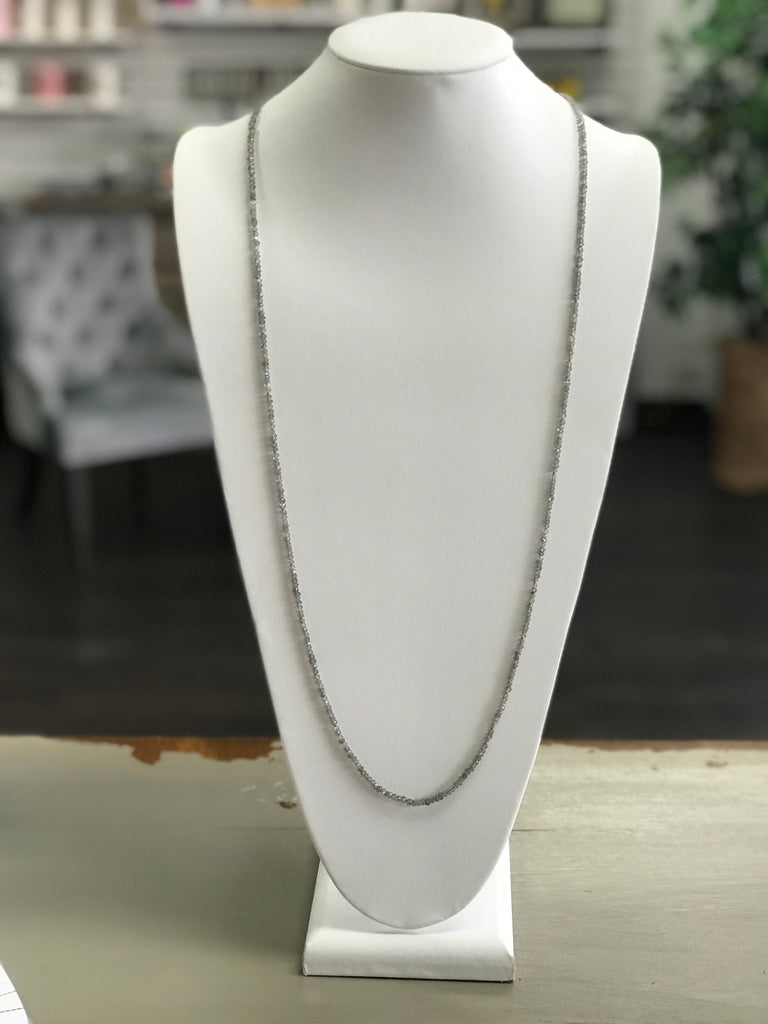 Grey Bead Necklace