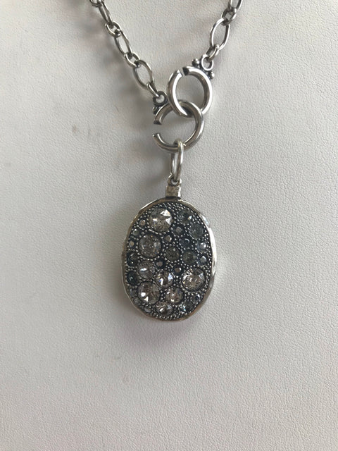 Swarovski Crystal and Sterling Silver Pendant
