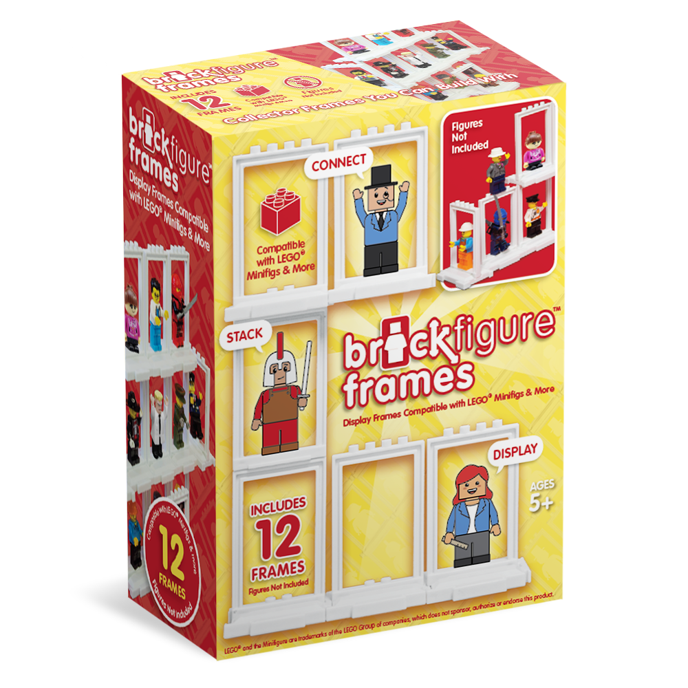 Brick Figure Frames 12-Pack for LEGO Minifigures