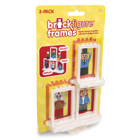 Brick Figure Frames 3-Pack for LEGO Minifigures