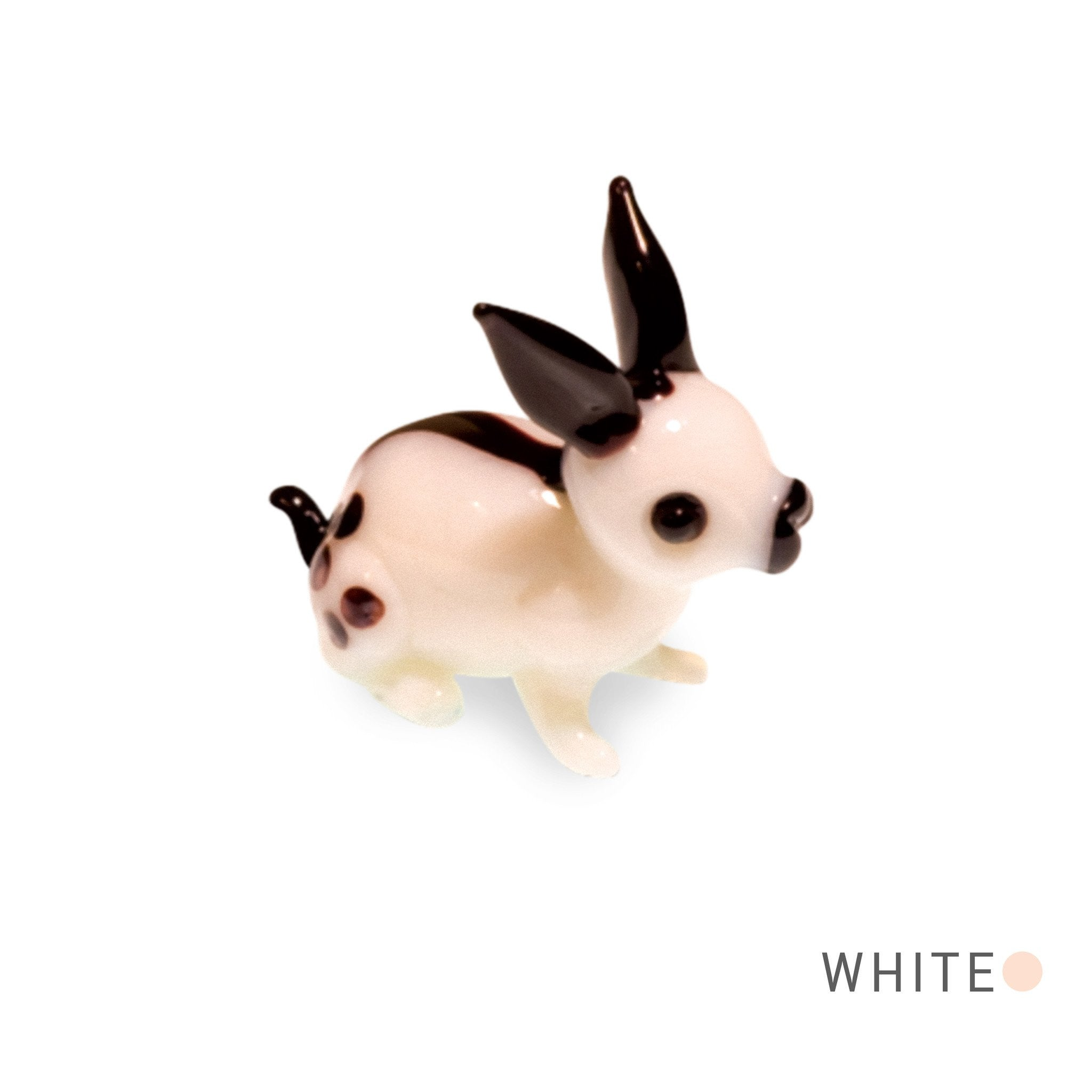 Bit the Black and White Rabbit (in Tynies Collector's Frame) miniature glass figurines
