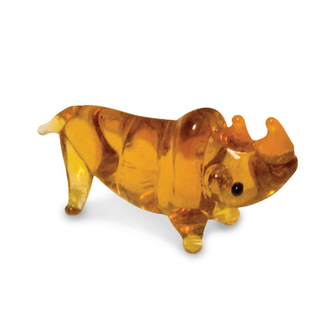 Bos the Rhino (in Tynies Collector's Frame) Miniature glass figurines