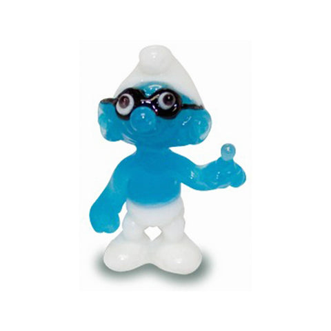 Plain Smurf - Smurfs Collectible Miniature Glass Figurine in Tynies Collector's Frame
