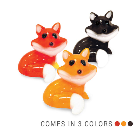 Fred the Fox (in Tynies Collector's Frame) Miniature glass figurines