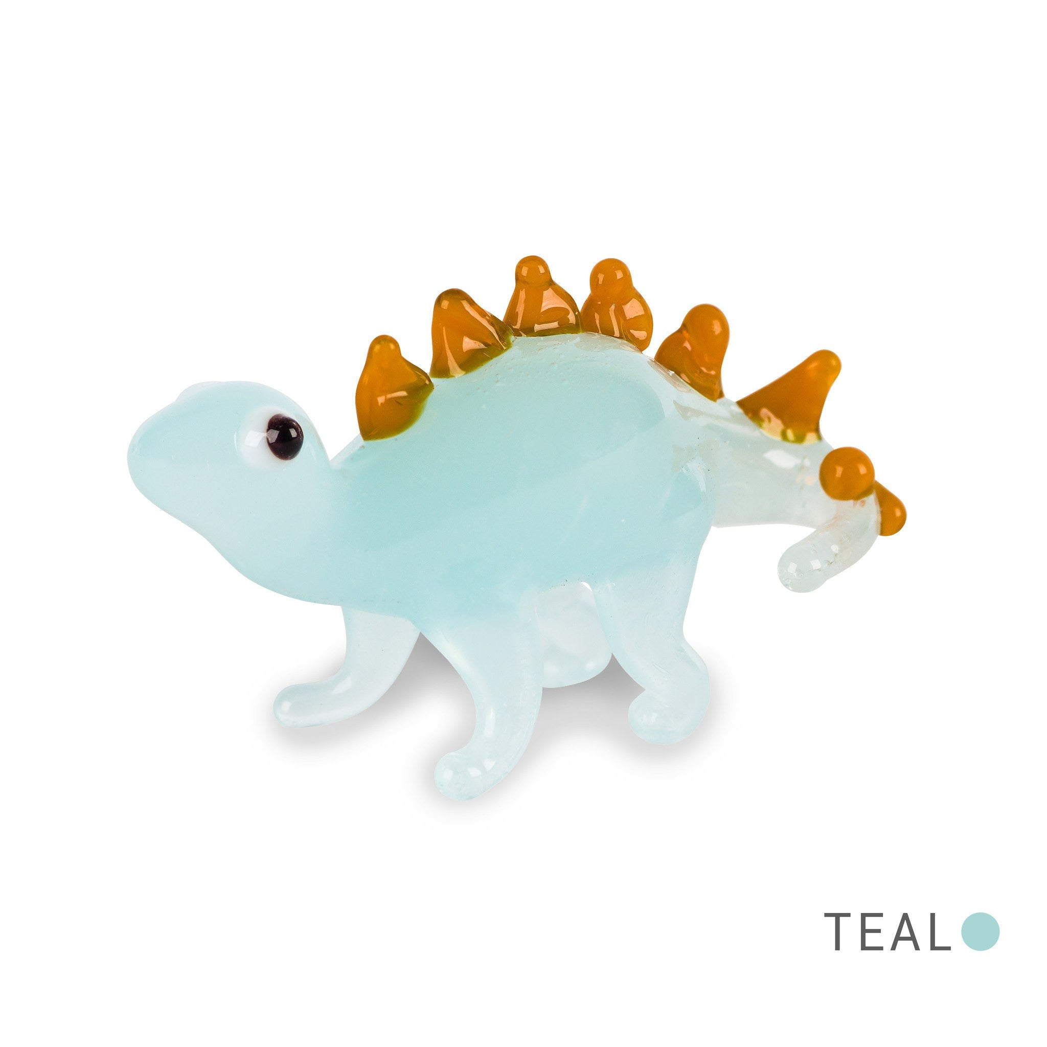 JAKE the stegosaurus dino (in Tynies Collector's Frame) Miniature glass figurines