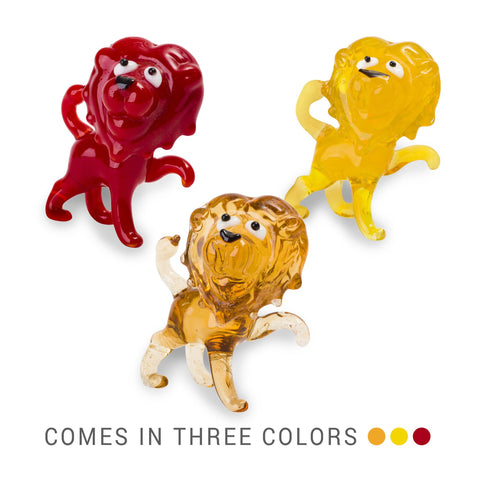 LUCA the lion (in Tynies Collector's Frame) Miniature glass figurines