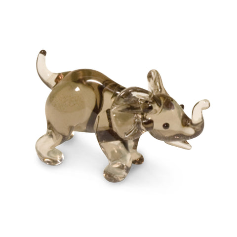 Moly the Hippo Collectible Miniature Glass Figurine in Tynies Collector's Frame