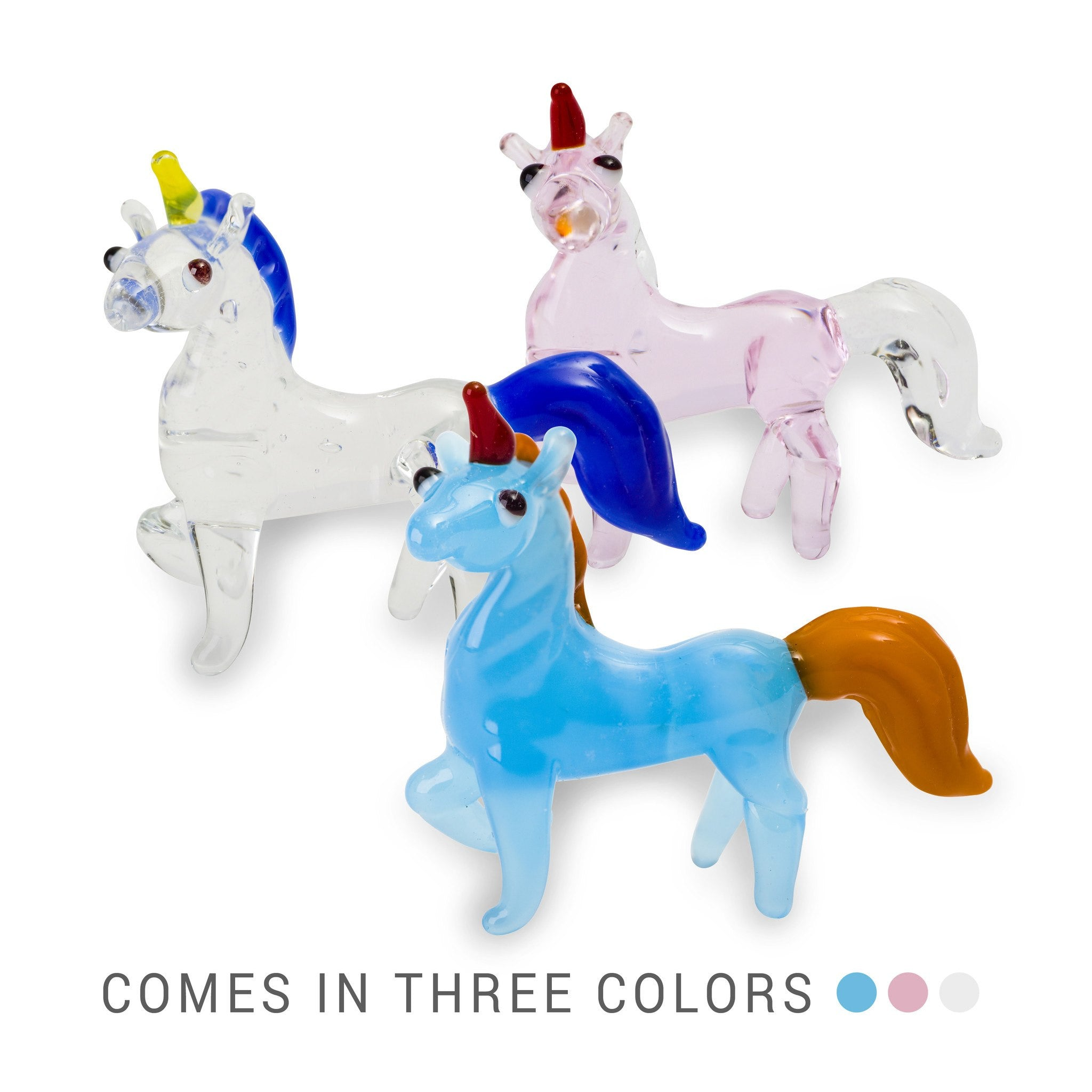 MILA the unicorn (in Tynies Collector's Frame) Miniature glass figurines