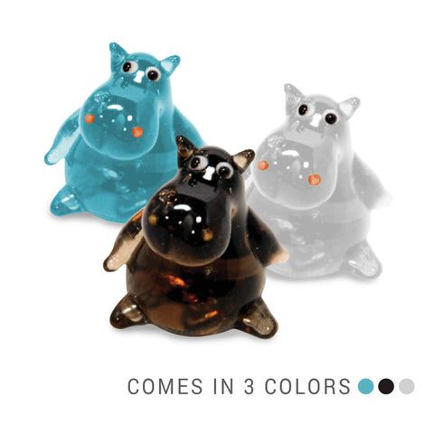 Moly the Hippo (in Tynies Collector's Frame) Miniature glass figurines