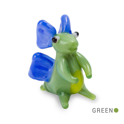 JAKE the stegosaurus dino Collectible Miniature Glass Figurine in Tynies Collector's Frame