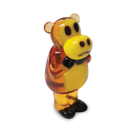 Worry Bear - Paul Frank (in Tynies Collector's Frame) Miniature glass figurines