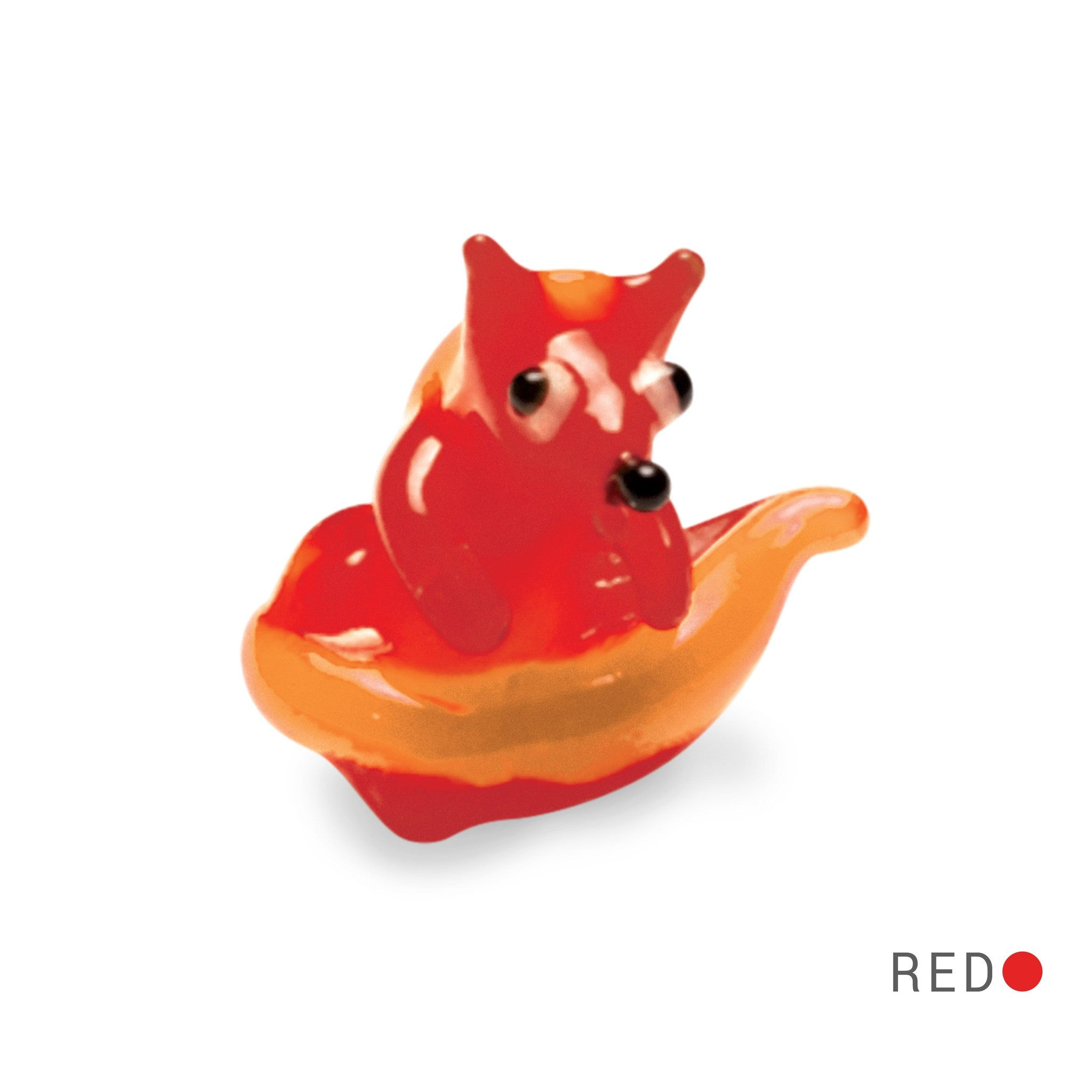 Red the Red Fox (in Tynies Collector's Frame) Miniature glass figurines