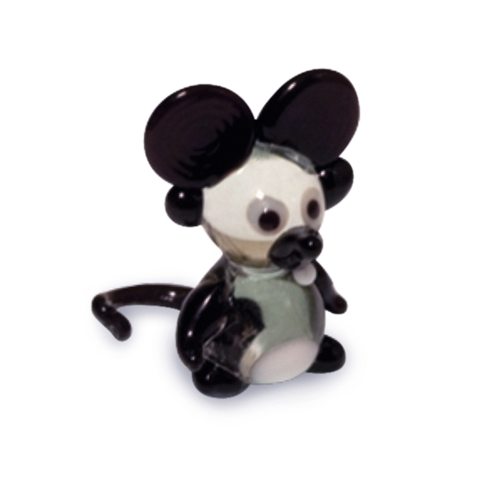 Rex the Big Ear Mouse (in Tynies Collector's Frame) Miniature glass figurines