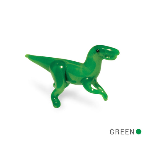 Ned the Friendly Dino Collectible Miniature Glass Figurine in Tynies Collector's Frame