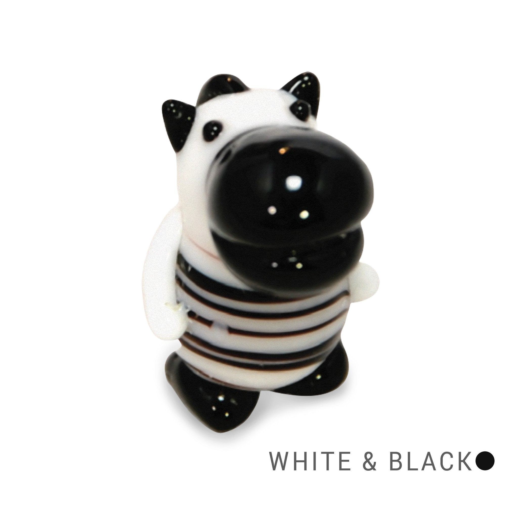 Skip the Zebra (in Tynies Collector's Frame) Miniature glass figurines