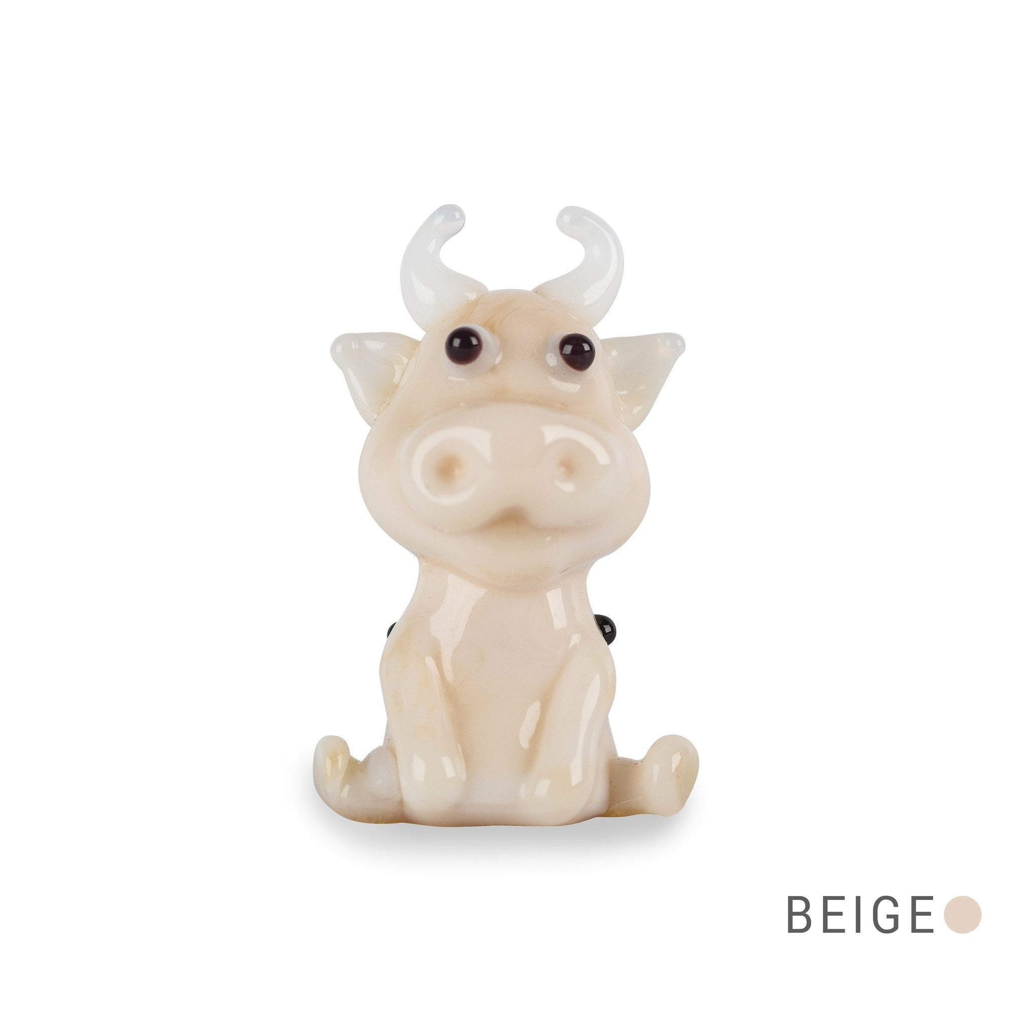 TIKO the cow (in Tynies Collector's Frame) Miniature glass figurines