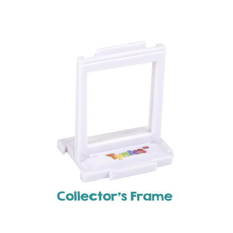 White Collector's Frame - (empty) Miniature glass figurines