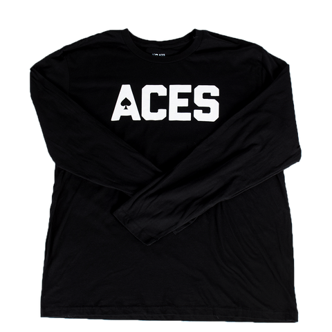 Aces Block Text LS Tee