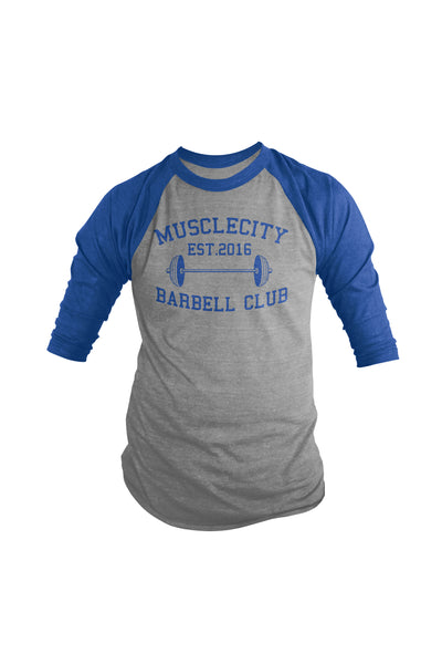 MCB BARBELL CLUB 3/4 SLEEVE SHIRT - MUSCLECITYBARBELL