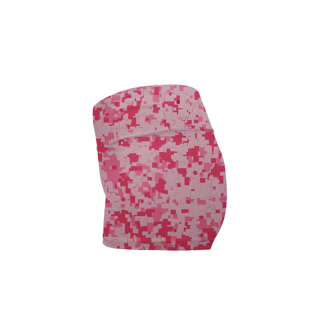 MCB PINK CAMO BOOTY SHORTS - MUSCLECITYBARBELL