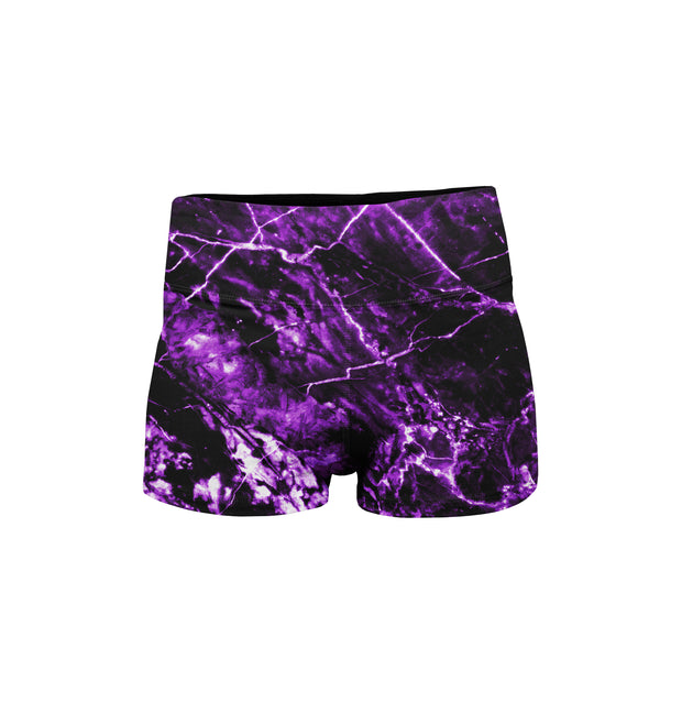 MCB PURPLE BOOTY SHORTS - MUSCLECITYBARBELL