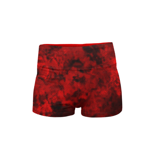 MCB FIRE BOOTY SHORTS - MUSCLECITYBARBELL