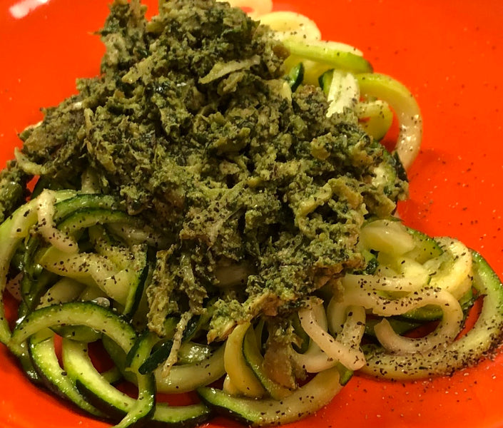 Recipe: Zucchini Noodle Chicken Pesto