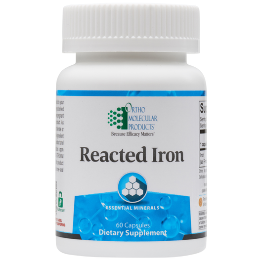 Reacted Iron 29mg Ortho Molecular 60 Capsules