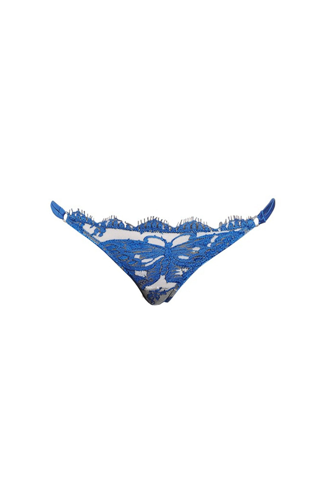 Madame Butterfly V-String in Butterfly Blue