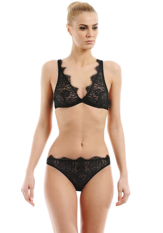 Tendresse Underwired Half-Cup Bra in Black