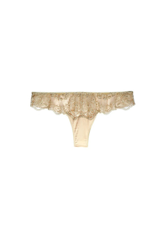 Célestine Tulle Thong in Rose Quartz