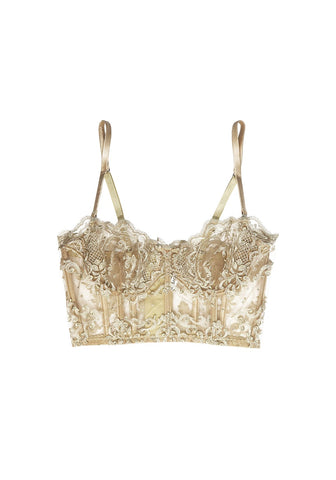 Caprice d'Été Triangle Bikini Top in White