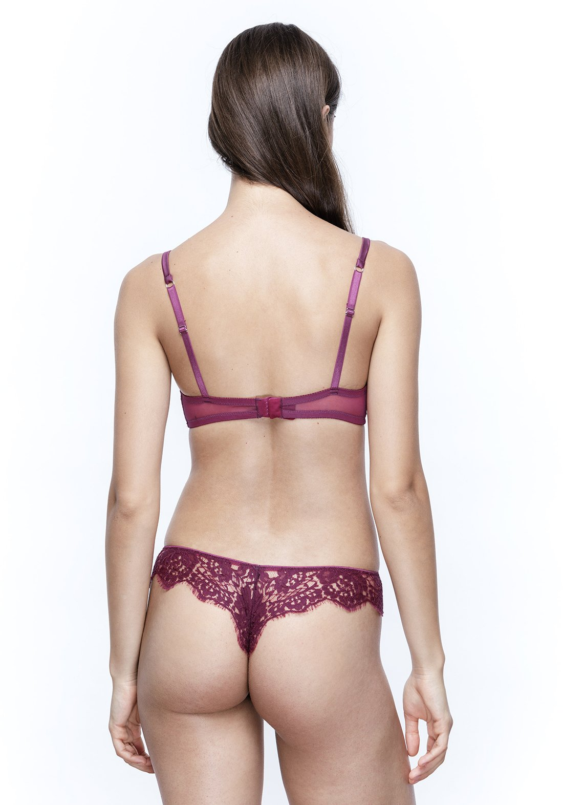 Colette Full Lace Thong in Orchid