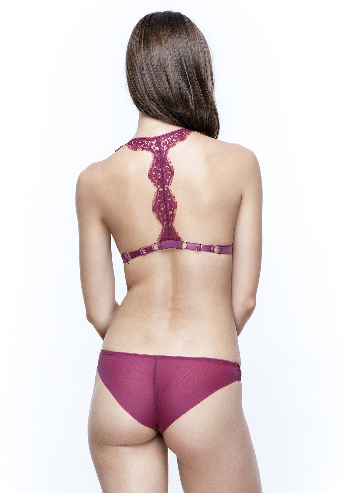 Colette Racer Back Triangle Bra in Orchid
