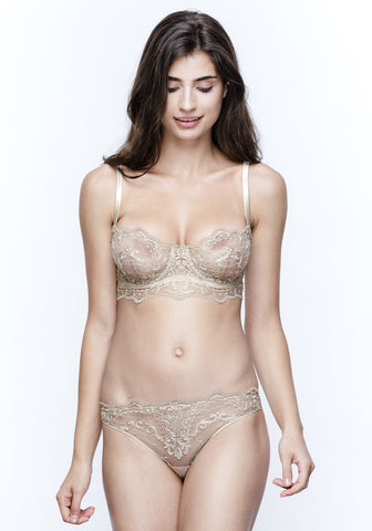 Mystère De Minuit Racer Back Triangle Bra in Dark Berry