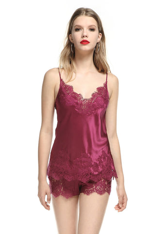 Colette Silk Satin Camisole in Orchid