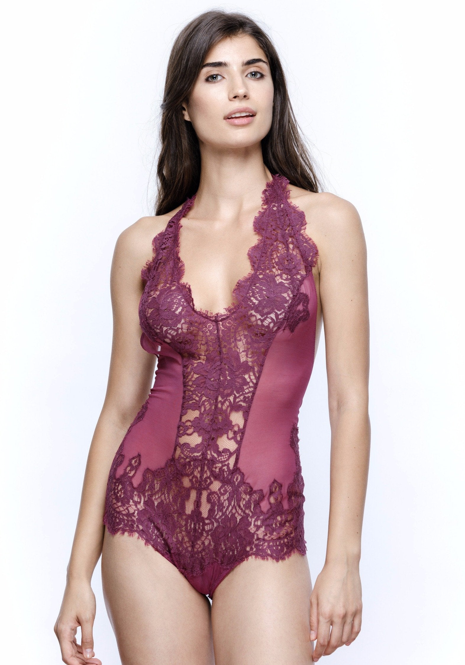 Colette Triangle Cup Bodysuit in Orchid