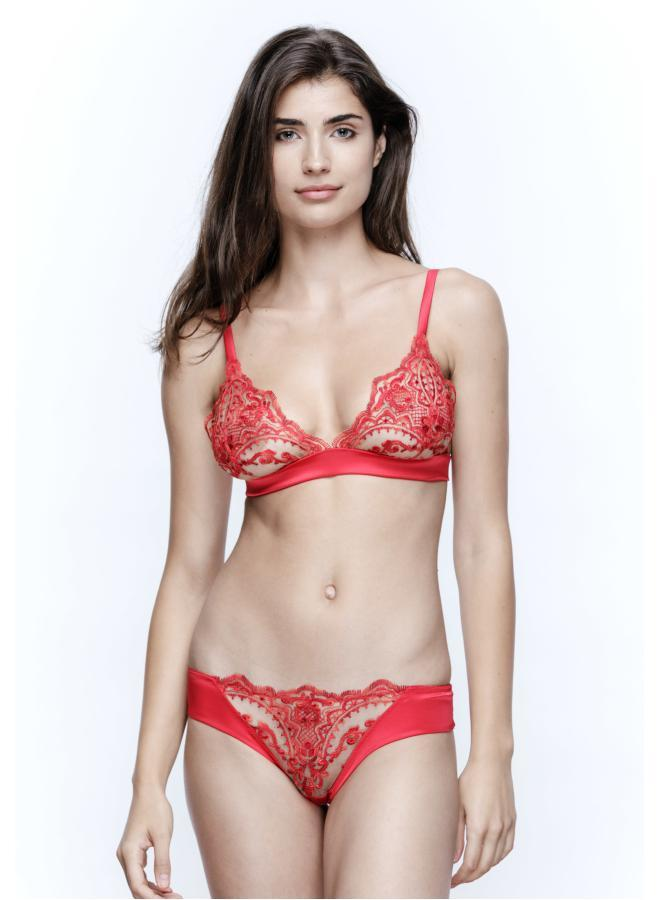 La Sirène Soft Triangle Bra in Hollywood Red