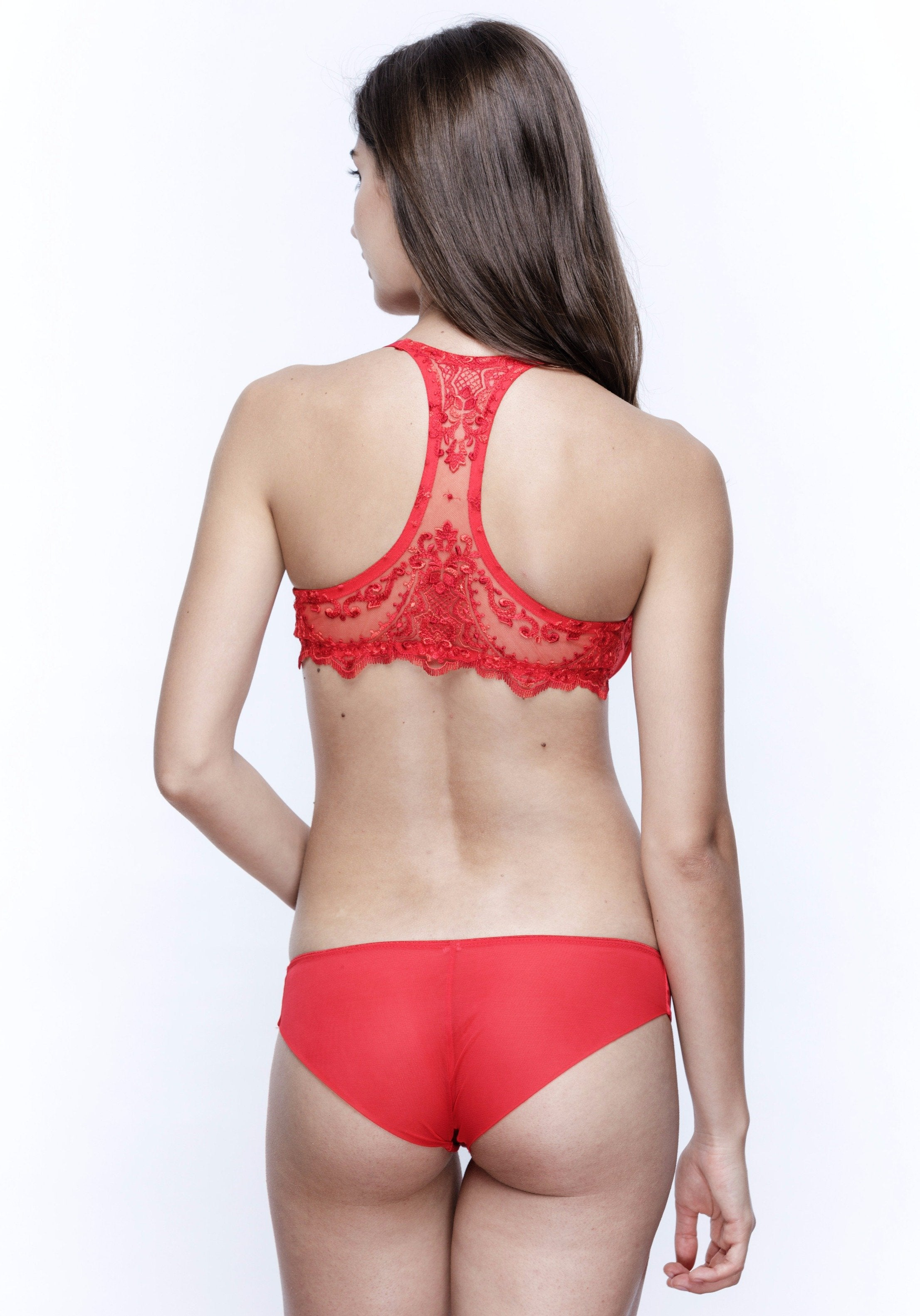 La Sirène Brazilian Brief in Hollywood Red