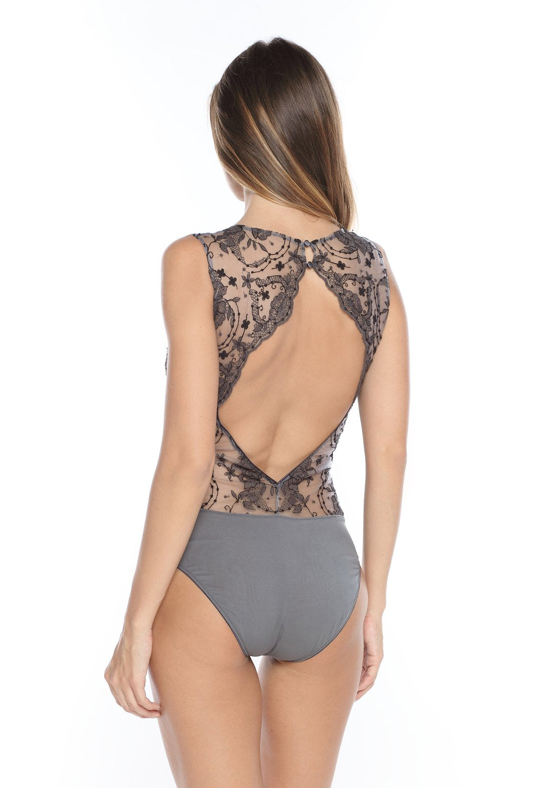 La Nymphe Bodysuit in Shadow