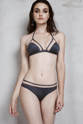 Abracadabra Soft Triangle Bikini Top in Anthracite