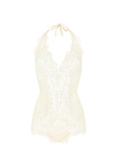 Colette Triangle Cup Bodysuit in Pearl