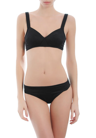 Fleur High Waist Briefs in Black