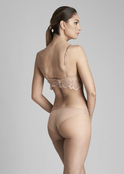 Desert Rose Brazilian Briefs in Rose Gold - I.D. Sarrieri